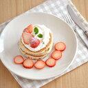 パンケーキプレート 23.5cm (クリーム) (アウトレット)    アウトレット食器/カフェ食器/和食器/パスタ皿/大皿/お皿/パンケーキ