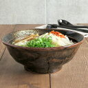 油滴結晶 石目 6.8寸ラーメン丼丼ぶり/ラーメン丼ぶり/ボ...
