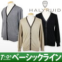 ハリールイド / ハリールイド / cashmere blend long sleeves knit cardigan leather accent [domestic free shipping] HALYRUID [men] ハリールイド / golf wear /fs2gm