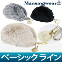 Man thingware / man thingware / fake fur boa ball porch case Munsingwear [Lady's] man thingware / golf wear
