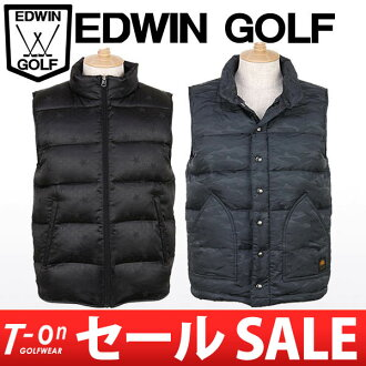 Edwin / Edwin golf / down vest best American casual design EDWIN GOLF Edwin golf golf wear fs3gm