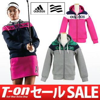 Adidas / 阿迪達斯高爾夫 / 連帽風衣輕質隔熱吸收汗水乾燥色彩設計流行列印模式阿迪達斯高爾夫阿迪達斯高爾夫高爾夫潔具