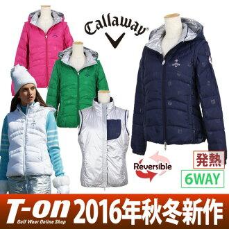 凱服裝 / 卡拉威高爾夫 / 休閒夾克連帽羽絨夾克背心是可逆熱拒水 6 方式北極模式卡拉威服裝卡拉威高爾夫高爾夫潔具
