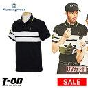 マンシングウェア Munsingwear メンズ ポロシャツ 半袖 UVカット 鹿の子素材 デュアル