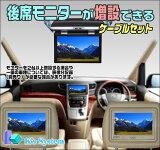 ■NSZN-W64T トヨタ純正ディーラーオプションナビ対応■後席モニターが増設できるケーブルセット■お好きな液晶モニターを接続できます【TV-200】■ケーズシステム社製 ハーネスキット