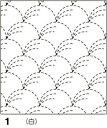●メール便● オリムパス 刺し子 花ふきん布パック 伝統柄 白 野分(のわき) 1