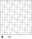 ●メール便● オリムパス 刺し子 花ふきん布パック 伝統柄 白 十字(じゅうじ)つなぎ 8