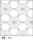 ●メール便● オリムパス 刺し子 花ふきん布パック 伝統柄 白 飛び麻の葉(とびあさのは) 10