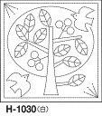【新柄!】【ポストイン便可】 オリムパス 刺し子 花ふきん布パック オリジナル柄 白 H-1030 北欧モチーフ ツリー(白) _0824楽天カード分割