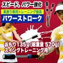 テニス素振り専用トレーニング器具パワーストローク(スイングトレーニング用)おもり135g/総重量570g[硬式テニス用](TPS-N54R/TPS-N54B/)(筋トレ グッズ テニス練習機 テニス 1人 練習器具 テニス練習 トレーニング テニス練習用品)売れ筋 P20Aug16