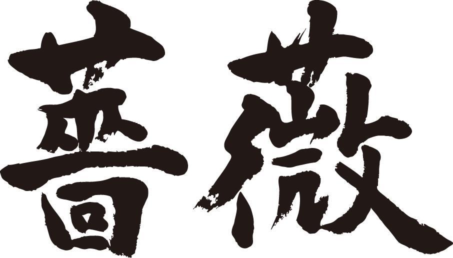 【薔薇(横書)】書道家が書く漢字Tシャツ おも...の紹介画像2