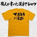 ◆てきとうだもの(横書)◆日本一に輝いた現代の名工が書いた漢字Tシャツ T-timeオリジナル プリ