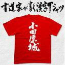 【小田原城(縦書)】書道家が書く漢字Tシャツ 本物の筆文字を使用し流せたオリジナルプリントTシャツ