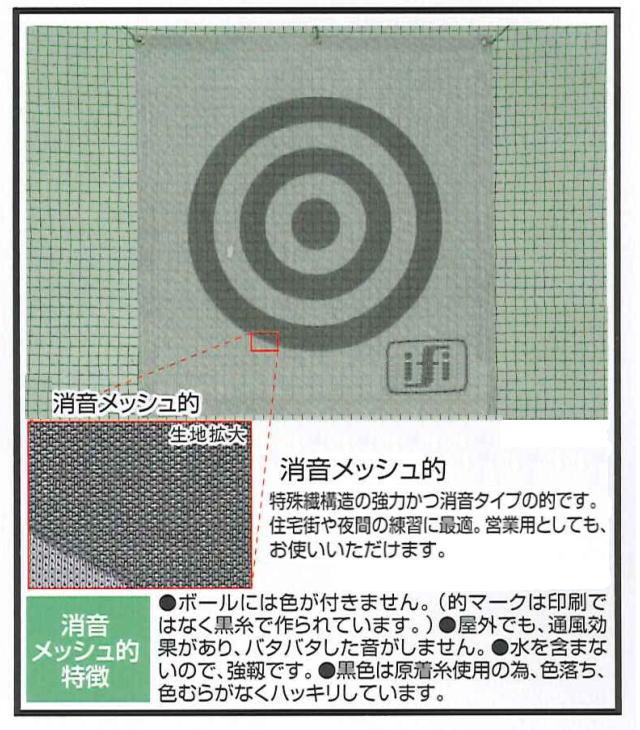 ゴルフ練習ネット用 消音メッシュ的1x1 実寸85cmx90cm