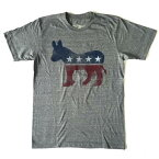 アメリカ 民主党 Democratic Party 大統領選 限定Tシャツ 半袖Tシャツ クルーネックTシャツ ROCK メンズTシャツ Tシャツ