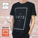 ロックTシャツ バンドTシャツ The 1975 ジャケット ロゴ Tシャツ UK ブラック Tシャツ オルタナティヴ メンズTシャツ