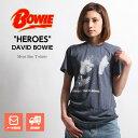 ロックTシャツ バンドTシャツ David Bowie デビッド・ボウイ HEROES ヒーローズ