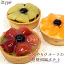 ひんやりフルーツの花柄 和風タルト(いちご/みかん/りんご)...