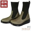 ショッピングニットブーツ インコルジェ[INCHOLJE] ヒール高ショートニットブーツ レディース ブーツ 8172 グレー (8172-GY)