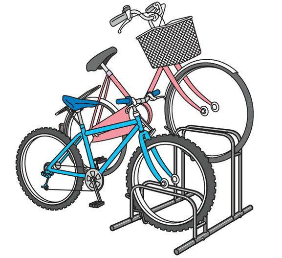 ... 自転車置き場(スタンド)です
