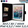 ipad air2 ケース mini4 ipad2 ipad3 ipad4 mini mini2 mini3 air ポート フォリオ メモ 帳 手帳型 カバー おしゃれ シンプル ビジネス Cooper Cases ブランド FolderTab