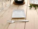 TF 10cm プチ角皿(アウトレット含む)【白い食器 プチシリーズ スクエア 絵付け】