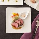ALPHAアルファ25cm正角皿(アウトレット)【白い食器大皿スクエアプレートパーティー皿業務用食器】