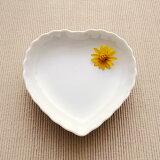 ハート 小皿(アウトレット含む)【白い食器 プチシリーズ 醤油皿 しょうゆ皿 小物入れ】