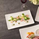ALPHA アルファ 24×16cm 長角皿M(アウトレット含む)【白い食器 取り皿 スクエア 魚皿 業務用食器】