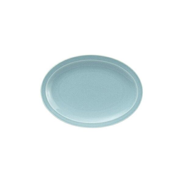 """青磁中華8""""プラター(214cm楕円皿)中華食器業務用日本製"""