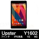 【7インチ7型】Upster Y1602 8GB GPS Android5.1 BT搭載【タブレット PC 本体】
