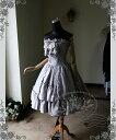 エレガントゴシック ロリータ レトロ グレー スエード スチール入リ コルセット ボディス ストラップレス ドレス