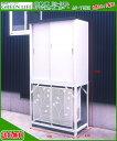 送料無料!グリーンライフ 収納庫HS−92+エアコン室外機カバーAC-78MMセット 物置 屋外