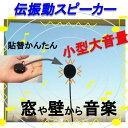 伝振動スピーカー 壁や窓から音楽♪ 小型大音量×貼替簡単