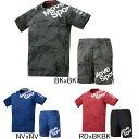 2020年春夏モデル【デサント】Move Sport ジャガードグラフィック半袖Tシャツ ショーツ上下セット DMMPJA63/DMMPJD85 メンズ プラクティスシャツ ハーフパンツ セットアップ