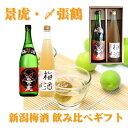 新潟梅酒飲み比べセット 景虎・〆張鶴セット 豪華2本セット【越乃景虎】【〆張鶴】【お歳暮