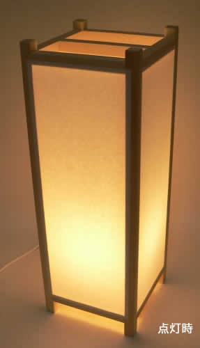 手作り角行灯 Lサイズ ベース450 省エネ電球 【RCP】【02P05Nov16】