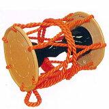 甲高い音色で舞台を引き締める大鼓(おおつづみ)大鼓・合成皮革(胴:黒無地・調べ:ナイロン) fs2gm