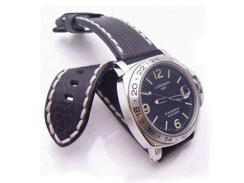 24mm TAIKONAUT時計ベルト カーフ-052RD パネライ44mm ◆送料無料◆