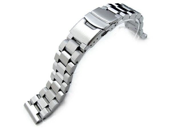 20mm TAIKONAUT メタル時計バンド ステンレススチール ヘクサッド オイスターブレスレット ブラッシュドシルバー  ◆送料無料◆