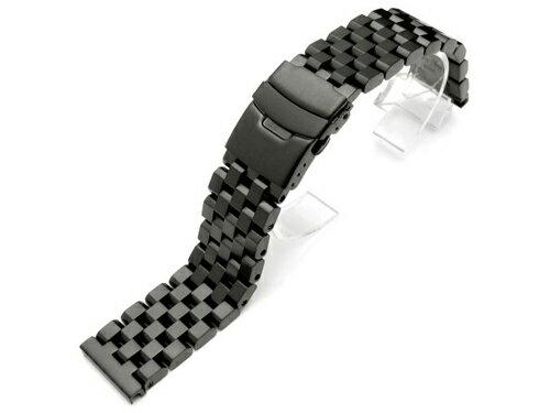 21mm TAIKONAUTメタル時計バンド ステンレススチール スーパーエンジニアタイプ2ブレスレット PVDブラック ◆送料無料◆