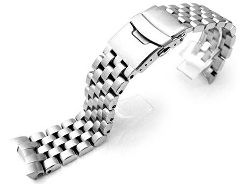22mm TAIKONAUT メタル時計バンド ステンレススチール スーパーエンジニア ブレスレット for セイコー ダイバーSKX007, SKX009, SKX011他