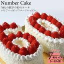 記念の数字「60」の形のケーキ! 『ナンバーケーキ 60』7号 フルーツいっぱいといち