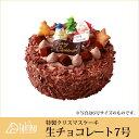 【特製クリスマスケーキ】生チョコレートケーキ7号 直径21cm【クリスマス ケーキ チョコレート 冷凍ケーキ 大陸/cake tairiku お取り寄せ 通販】【RCP】
