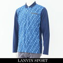 LANVIN SPORT(ランバン スポール)長袖ポロシャツブルー系VMK104110 B04