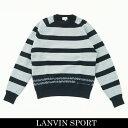 LANVIN SPORT(ランバン スポール)セーターネイビー×サックスVMM4071B5 NV04