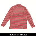 LANVIN SPORT(ランバン スポール)ハイネックロングTシャツピンク×グレーVMM107216 PK04