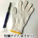 牡蠣ナイフ 軍手 ( かき ナイフ カキ ) 【ネコポス のみ 送料無料 】
