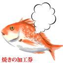 【焼き加工券】瀬戸内の天然真鯛を御祝い用に焼く加工券!(天然鯛は別途ご注文ください。)( お食い初め 鯛 焼き鯛 )