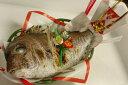 【鯛飯(めし)レシピ付き】【送料無料】瀬戸内の1kgの天然活け鯛を塩焼きにしました。かご、飾り付き【仕込みの関係上、発送日より5日前までのご注文をお願い致します...